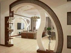 Home Interior Living Room Most Stunning Room Divider And Partition Designs That Are Fantastic Living Room Partition Design, Room Partition Designs, Ceiling Design Living Room, False Ceiling Design, Living Room Designs, Living Rooms, Partition Walls, Room Interior, Home Interior Design