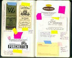 Moleskine + washi tape = travel scrapbook