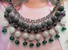 Natural gemstone necklace Rosanna woman bead necklacewoman