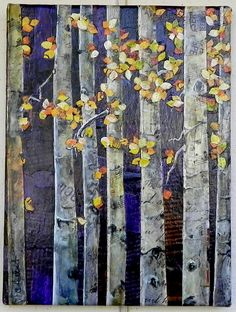 Hey, I found this really awesome Etsy listing at https://www.etsy.com/listing/221127469/fall-aspens-torn-paper-collage-original