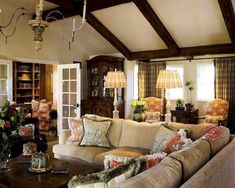 French country living room design and decor ideas (32)