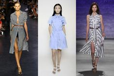 Shirtdresses In an anything-but-tame turn, designers reimagined this classic shape with drop waists, double high slits, and more. It's like a Choose Your Own Adventure book, but for your closet.   Altuzarra, Charlotte Ronson, Rebecca Minkoff
