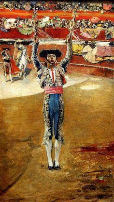 Citando a banderillas. Museo de Bellas Artes de Sevilla. Donación de don Alfonso Grosso. Obra de José García Ramos