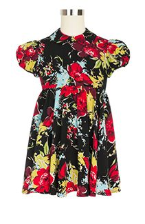 Rockabilly Baby Polly Dress in Forget Me Not Floral
