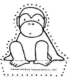 Prikkaart Bij het boek: api leert zwemmen