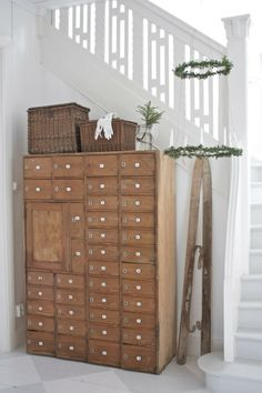 storage cabinet with numbers   //   Green Bench