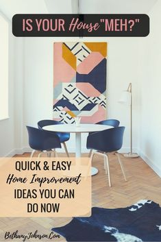 Ugh, home improvements. They always look so easy at first, right? The truth is #DIY home improvement projects can drive you crazy.  The trick? Find easy #homeimprovements that can really make a big difference visually. Here are the easiest DIY home improvements with the biggest payoff.