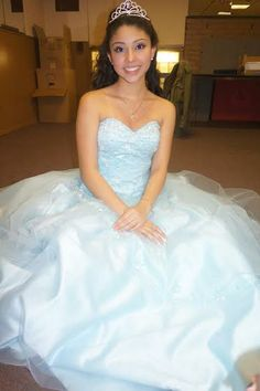 Here's our beautiful OuterInner customer Angela Melendez wearing her dress! Doesn't it look amazing? This dress can be yours in your choice of color & size for just $195! See it here: http://www.outerinner.com/ball-gown-embroidery-sweetheart-floor-length-quinceanera-dresses-pd-00916-0.html?k=00916