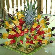 Idea For Luau Birthday Party...guess I'll be making another edible arrangement!!! Lol