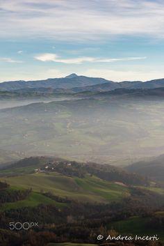 Autumn hills landscape - Autumn landscape