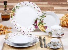 Aparelho de Jantar Provence 42 Peças - em Porcelana - Casa Ambiente- 233,67