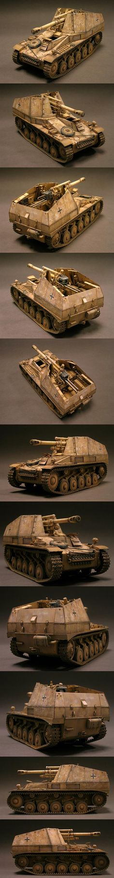 Wespe German Self-Propelled Howitzer 1/35 Scale Model