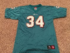 7b9961435 Ricky Williams Miami Dolphins Green Youth Jersey Extra Large (XL) (18-20)…