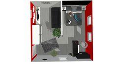 Bedroom+Living room