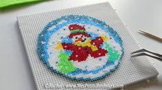 Snowman hama mini beads by Rachel - Pattern: https://de.pinterest.com/pin/374291419012615364/