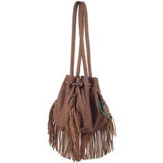 skalski Ball Fringe Leather Bag found on Polyvore