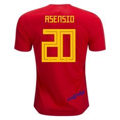 Marco Asensio 20 2018 FIFA World Cup Spain Home Soccer Jersey Soccer Kits 17189de5d