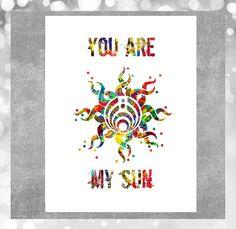 Printable love card you are my sun bassnectar by MimiPrintables
