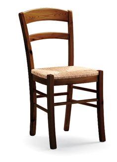 Sedia modello Paesana con struttura in pino e seduta impagliata. Catalogo DEMAR MOBILI PINO. #sedie #mobilirustici #contract #arredamentirustici www.demarmobili.it