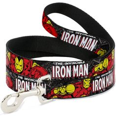 Buckle-Down Wide 1.5' 'Marvel Comics The Invincible Iron Man Stacked Comic Books/Action Poses' Dog Leash, 4' ** Learn more by visiting the image link. (This is an affiliate link and I receive a commission for the sales)