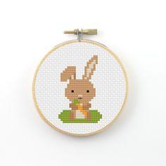 Bunny Cross Stitch pattern bunny pattern animal by ringcat on Etsy