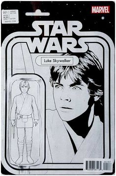 Black and white action figure variant cover by John Tyler Christopher Star Wars Comic Books, Rare Comic Books, Star Wars Comics, Comic Book Covers, Star Wars Art, Comic Books Art, Comic Art, Marvel Comics, Book Art