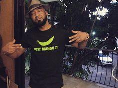 Mr. @p8guevara representing con su tshirt #justmanguit...Este viernes 8 de Abril podrás verlo en vivo en el #rapfest by @ogkollektiv en @thewarehousedr junto a Melymel Whitest Taino Alive y Original Juan
