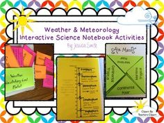 This science interactive notebook kit includes 10 activities for your students to learn, practice, enrich, and review concepts about weather and meteorology! This product specifically includes: *Weather tabbed page divider*Weather flash card pocket*16 Weather flash cards/word sort activity Words Include: atmosphere, ozone, water cycle, global winds, Coriolis Effect, jet stream, clouds, air pressure, wind, Beaufort Scale, humidity, dew point, climate, evaporation, condensation, & precipita...