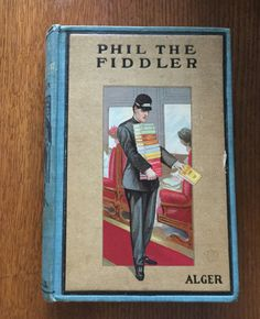 """Vintage book from 1908 """"Phil The Fiddler, The Story of a Young Street Musician"""" by Horatio Alger Jr. by LoveThisOldHouse on Etsy"""