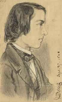 Dante Gabriel Rossetti - Portrait of William Michael Rossetti