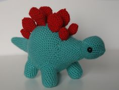 Mini Dinosaur Knitting Pattern : 1000+ images about AMIGURUMI DINOS on Pinterest Amigurumi, Dinosaurs and Cr...