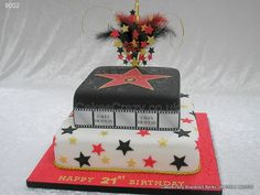 Hollywood walk of fame cake http://www.cakescrazy.co.uk/details/red-black-gold-hollywood-cake-9002.html