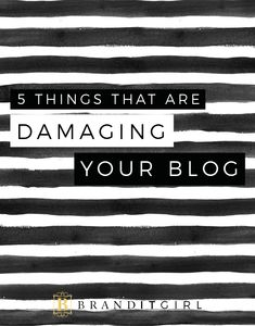 Whoops! Are there things that could be damaging your blog? What if you haven't even thought of them! Don't worry, on the blog, I identify 5 things that could be damaging your blog and I give you quick, easy and actionable ways to fix them! Click through and let's get started! #brand #blog #business