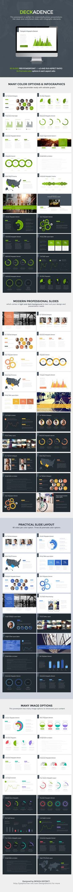 Decker Powerpoint Template PowerPoint Template / Theme / Presentation / Slides / Background / Power Point #powerpoint #template #theme: