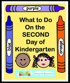What to Do on the Second Day of Kindergarten.   kindergarten   first week of school   teacher resources   #kindergarten #backtoschool