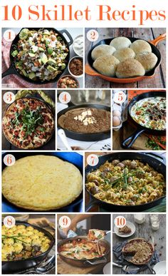 10 Easy Skillet Recipes.......warm up this winter with one of these easy cast iron skillet recipes!