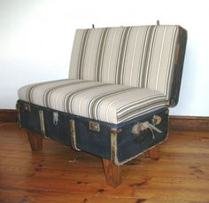 Convertir un viejo baúl en un cómodo asiento