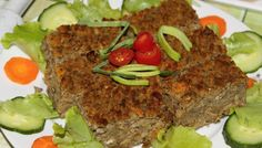 Čočková sekaná | Dům a byt What To Cook, Meatloaf, Easy, Brunch, Food And Drink, Snacks, Vegetables, Cooking, Health