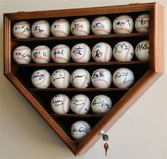 A homeplate shaped baseball display case! Perfect for displaying baseballs signed by your Syracuse Chiefs' players!