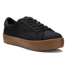 SO® Felicia Women's Platform Sneakers, Size: medium (9.5), Black