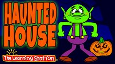 """♫ """"Haunted House"""" is a fun Halloween dance song that your children will love! Children explore a Halloween (not so scary) haunted house with a friendly dancing goblin, skeleton, werewolf and vampire. Your little trick-or-treaters will enjoy this Halloween dance song filled with silly actions and spooky fun! This song is ideal for preschool through lower elementary children. Also, this Halloween dance song is perfect for school assemblies, family nights and children's performances."""