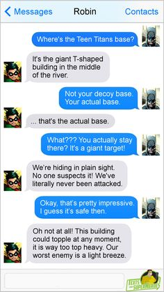 Tagged with funny, memes, teen titans, dc comics; Marvel Funny, Marvel Dc Comics, Funny Comics, Nightwing, Jason Todd, Superhero Texts, Texts From Superheroes, Comic Text, Dc Anime