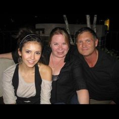 Pin for Later: Go Behind the Scenes of Nina Dobrev's Final Days on the Vampire Diaries Set  Dobrev shared this old snap of her with showrunners Julie Plec and Kevin Williamson.