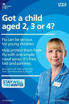 Got a child age or They are eligible for the free, painless, flu nasal spray Winter Images, Healthy Living Tips, Health Advice, Public Health, Flu, Campaign, Wellness, Winter Child, Children