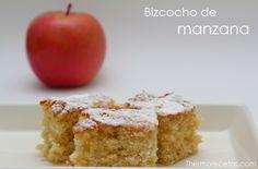 Fantástico bizcocho de manzana jugoso y casero. Ideal para grandes y pequeños, para comer fruta y decir NO a la bollería industrial.