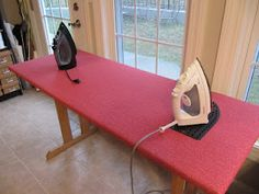 Make Your Own Ironing Board; great size and shape for quilters