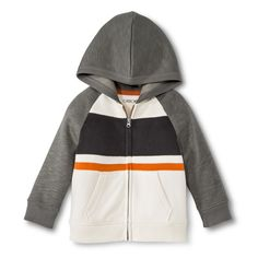 Infant Toddler Boys Fleece Zip Up Hoodie - Shell