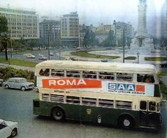 Double Decker Bus, Historical Photos, Lisbon, Vintage Photos, Old Things, African, Weather, Viajes, Colors