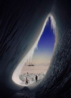 South Pole.......A photograph taken by Scott's British Antarctic Expedition to the South Pole.[1910]
