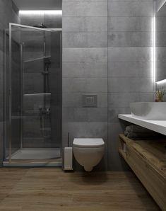 Flat on Behance Architecture Design, Toilet, Bathtub, Digital Art, Interior Design, Bathroom, Flat, Behance, House